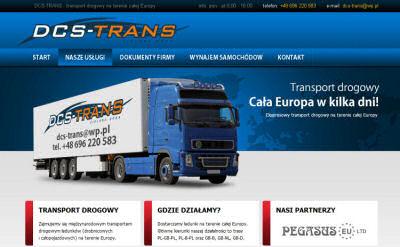 Portfolio stron www - DCS-trans