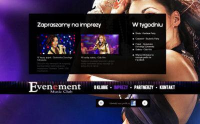 Portfolio stron www - Evenement