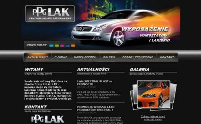 Portfolio stron www - PPG LAK