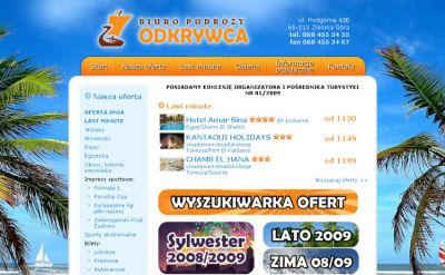 Portfolio stron www - Odkrywca