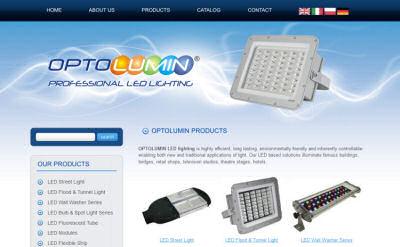 Portfolio stron www - Optolumin