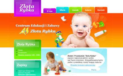 Portfolio stron www - Złota Rybka